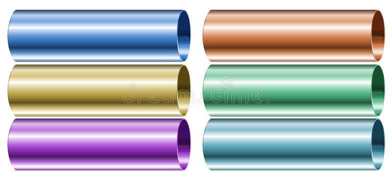 Neon gekleurde pijpen vector illustratie