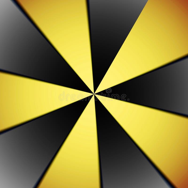 Neon gele dynamische cirkel abstracte achtergrond vector illustratie
