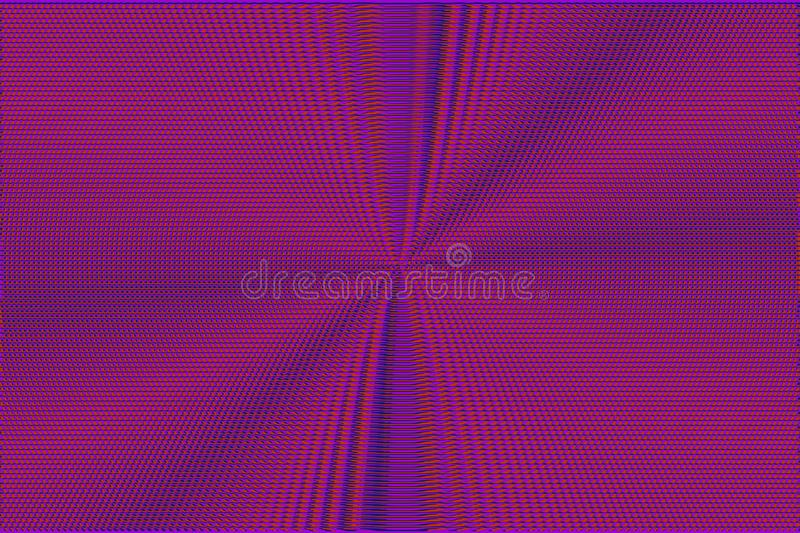 Neon glitch halftone abstract red and purple glitch background. Hypnotic optical illusion texture stock image