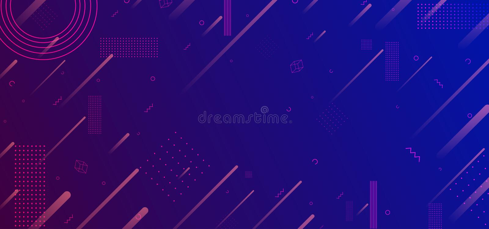 Neon glowing techno lines, blue hi-tech futuristic abstract background template, vector illustration design vector illustration