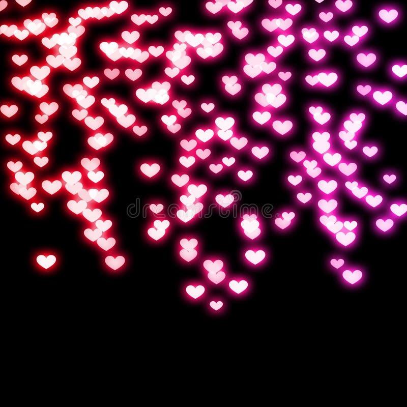 Neon Hearts royalty free stock photo