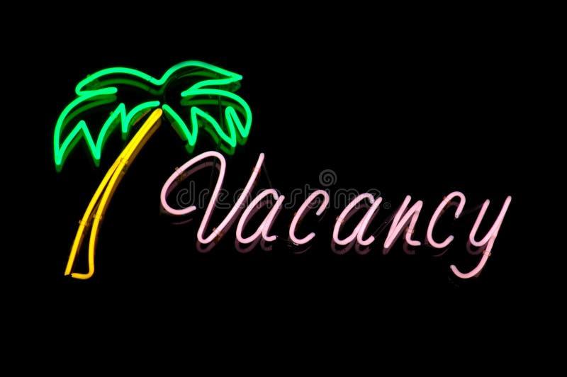 Neon Hotel Vacancy Sigg royalty free stock photo