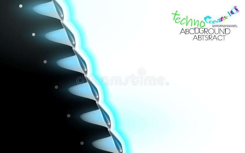 Neon illuminante sottofondo futuristico ad alta tecnologia Campione di progettazione della tecnologia dell'ingranaggio Coperchio  royalty illustrazione gratis