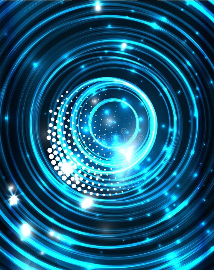 Neon kreist abstrakten Hintergrund ein vektor abbildung