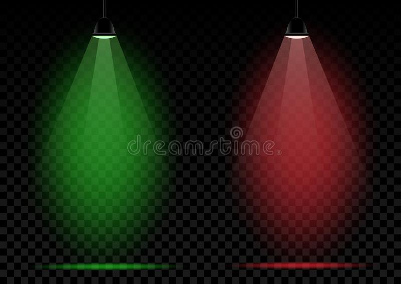Download Neon Lamps Green And Red Lights Stock Vector   Illustration Of  Isolated, Bright: