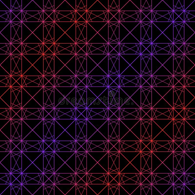 Neon laser lines pattern. Vector geometric seamless texture with delicate grid. Neon laser lines pattern. Vector geometric seamless texture with subtle grid stock illustration