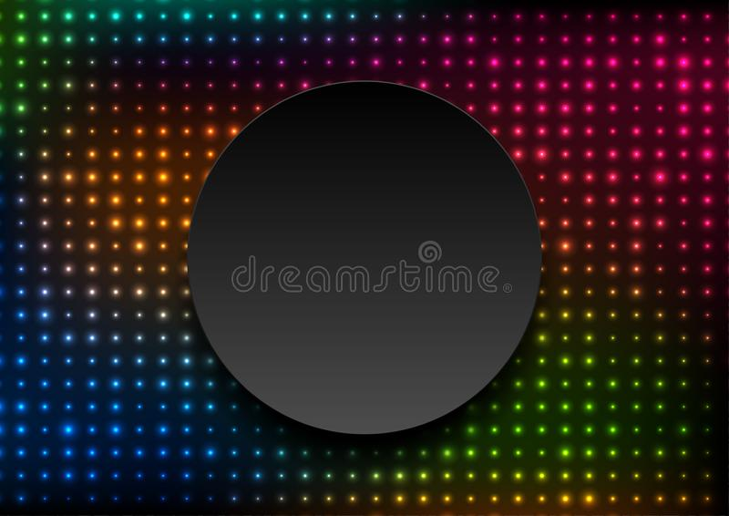 Neon led lights abstract glowing background vector illustration