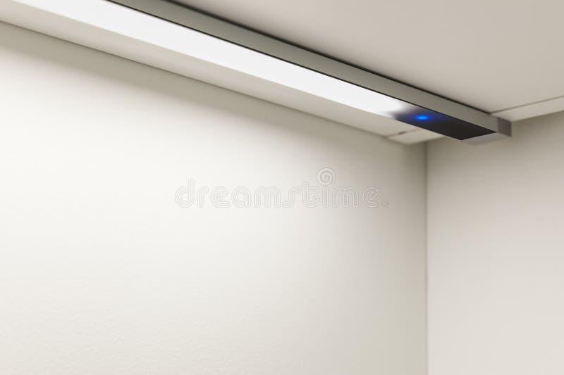 Neon light. Detail of a modern kitchen royalty free stock photos