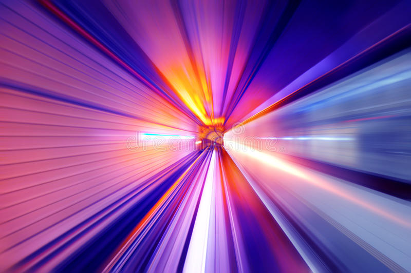 Neon light tunnel royalty free stock photo