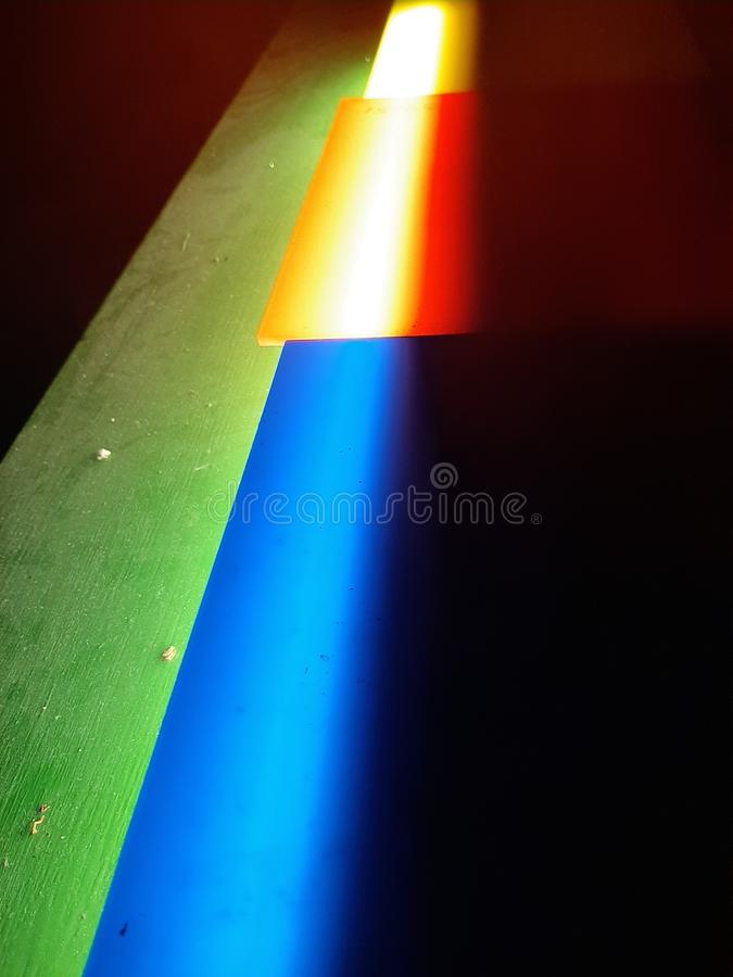 The Neon. Lights, abstract, nopeople, rainbow stock photography