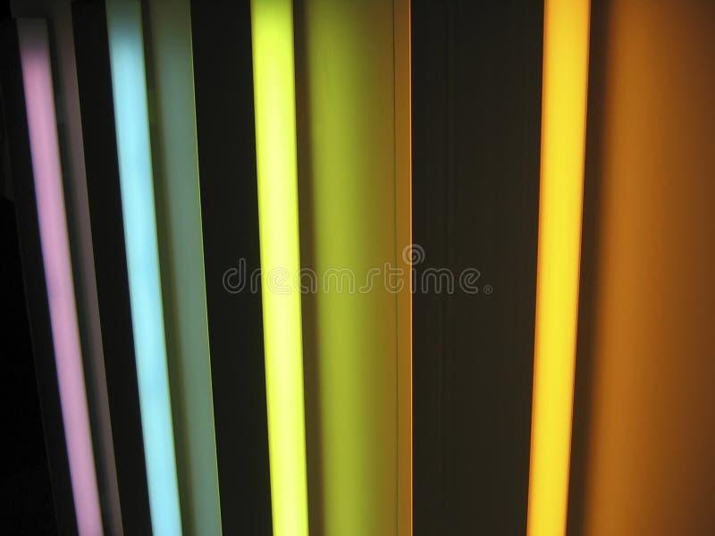 Neon lights rainbow stock photos
