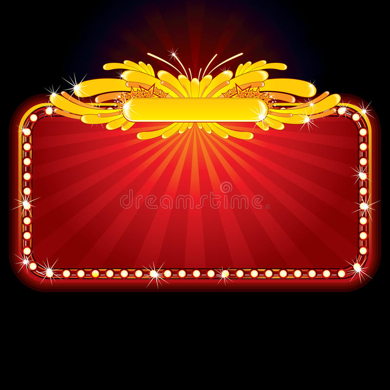 Download Neon luxury sign stock vector. Image of decoration, casino - 15115129