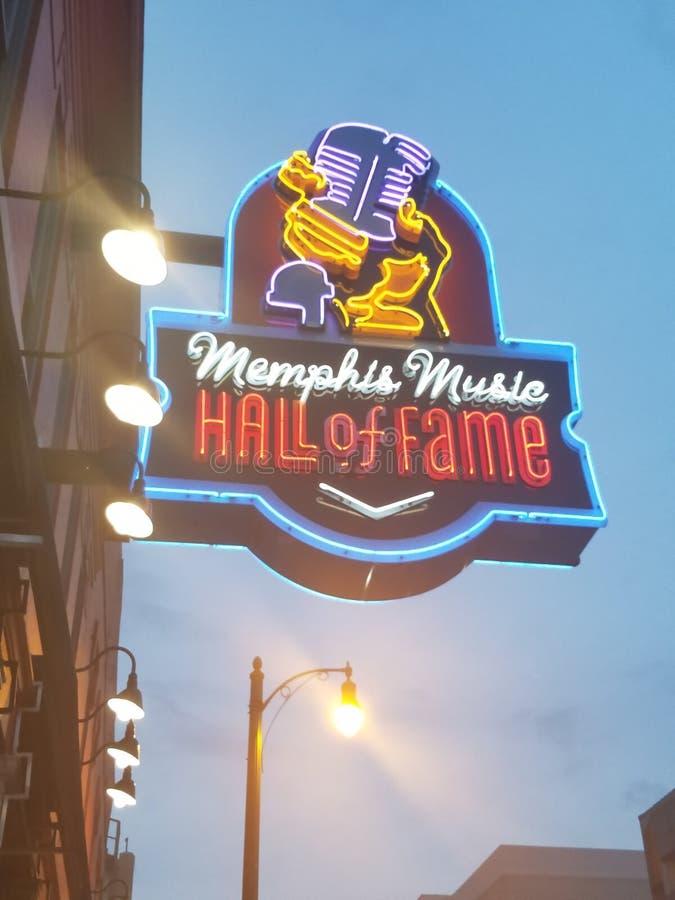 Neon a Memphis immagini stock libere da diritti