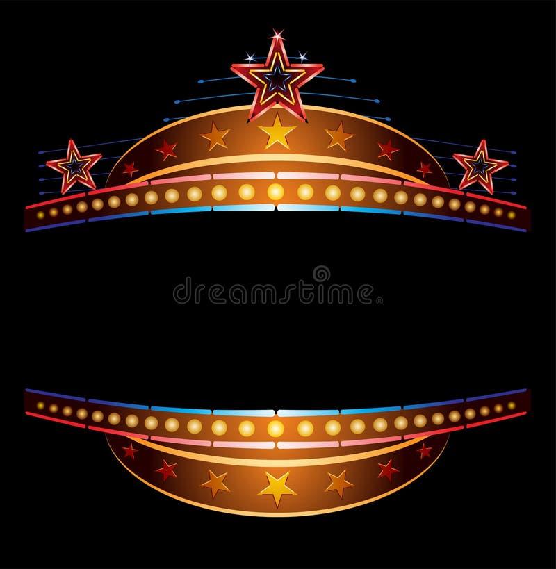 Neon met sterren stock illustratie