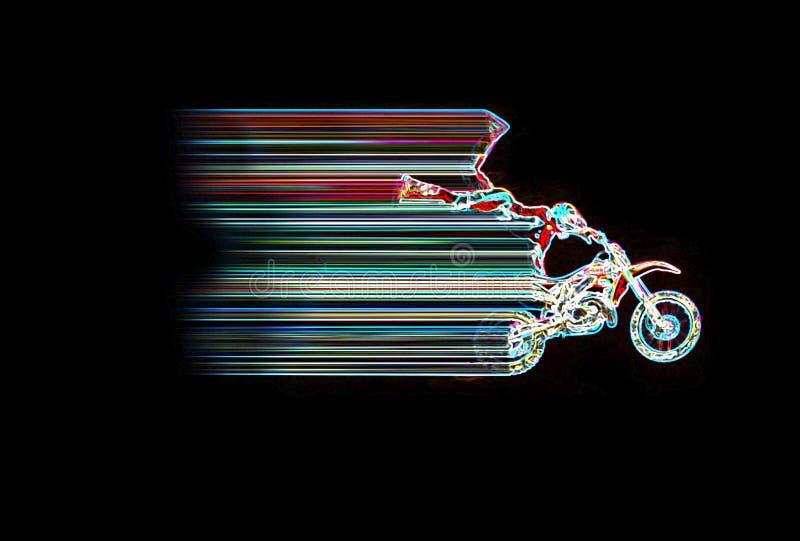 Neon Moto Jump Stock Images