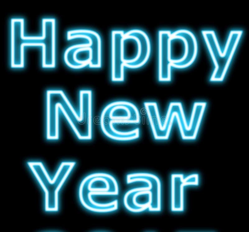 Neon new year sign stock illustration