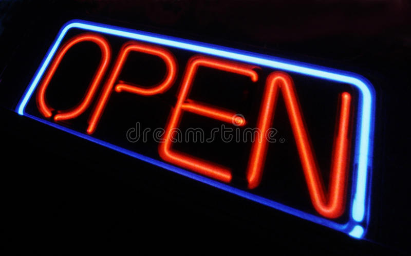 Download Neon Open Sign stock image. Image of graphic, business - 19076285
