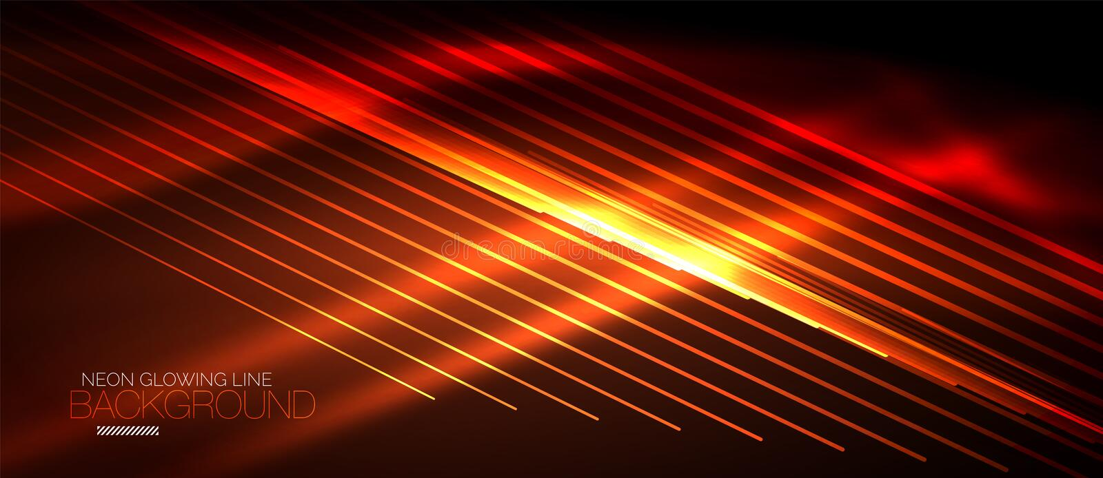 Neon smooth wave digital abstract background. Neon orange vector smooth wave digital abstract background stock illustration