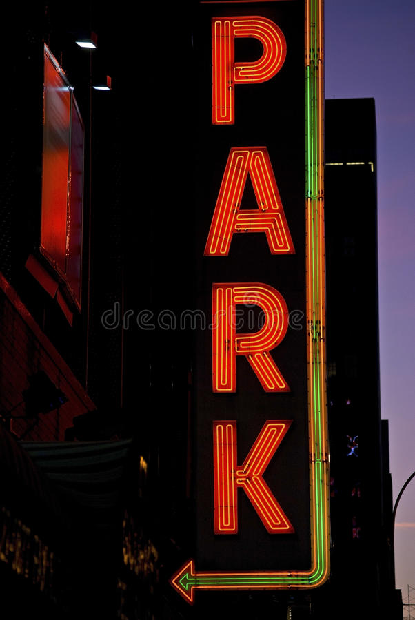 neon park obraz stock