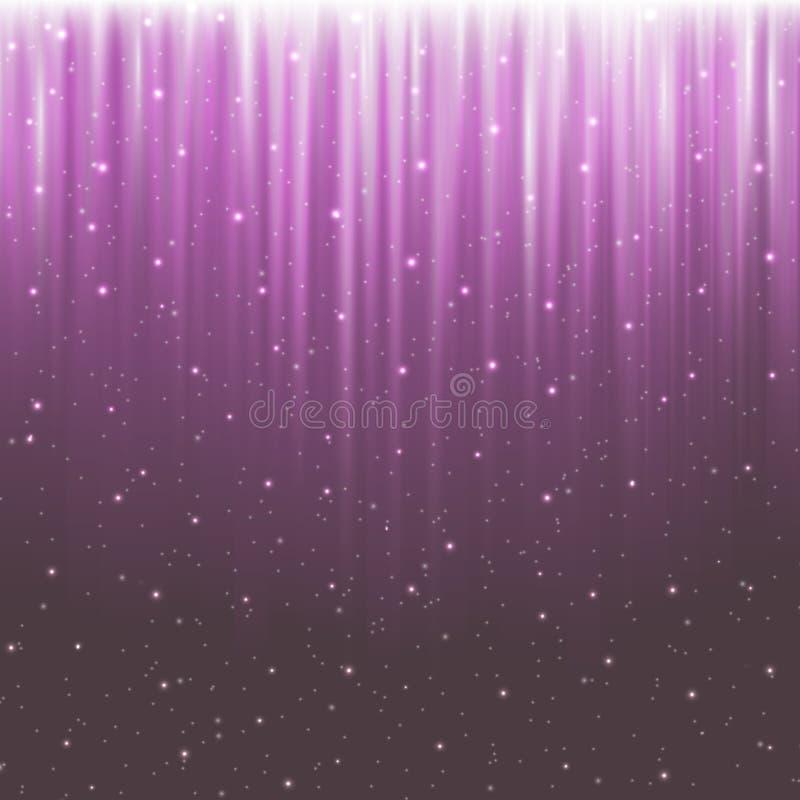 Neon-pink-snow-01 ilustración del vector