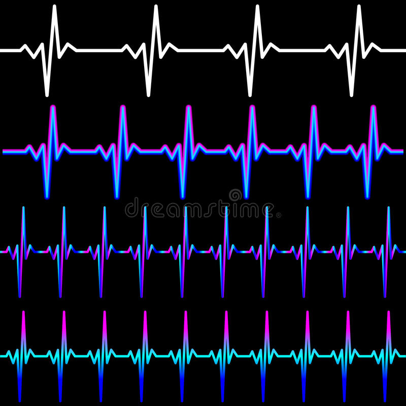 Neon pulse line stock illustration