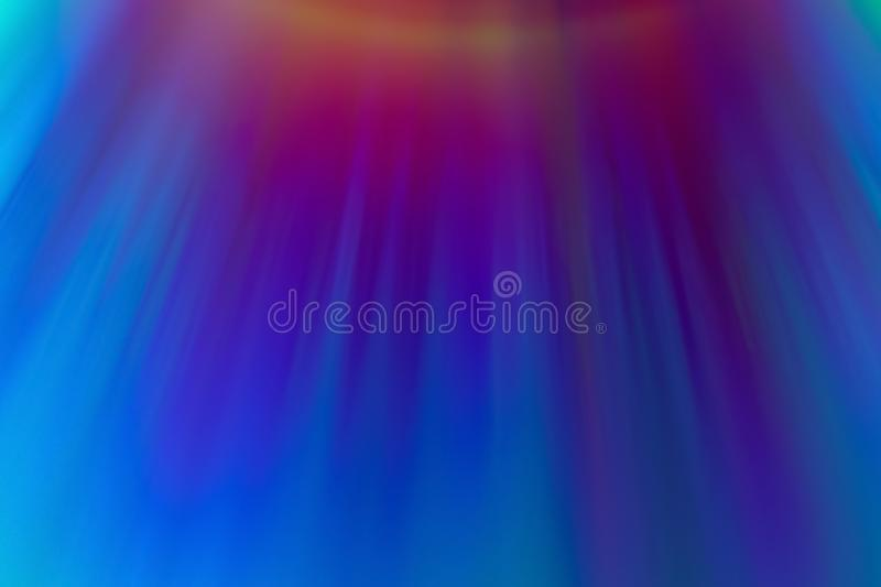 Neon rainbow streaks, blurred multicolor beams. Abstract background vector illustration
