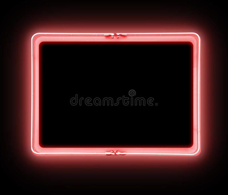 Neon Red Warning Sign Symbol royalty free stock photography
