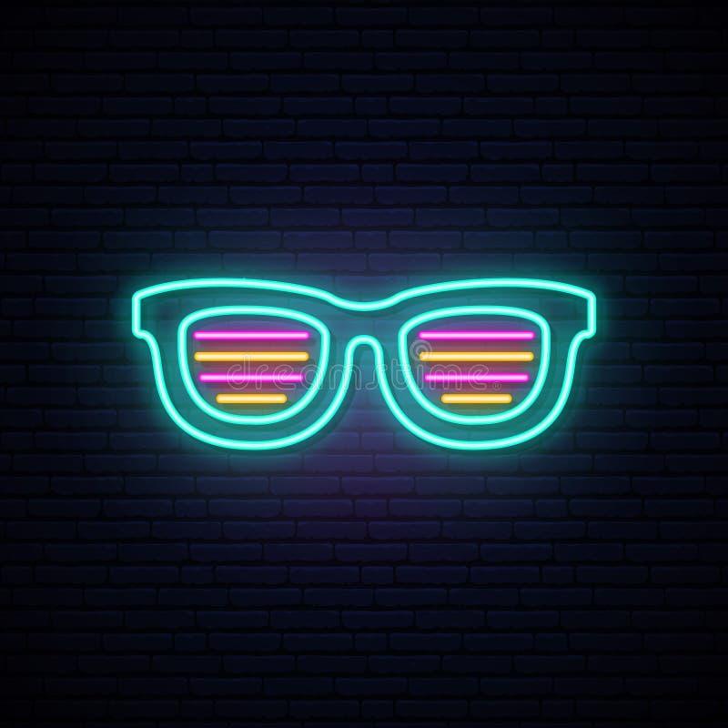 Outline Sun Funny Glasses Hot Stock Vector Illustration