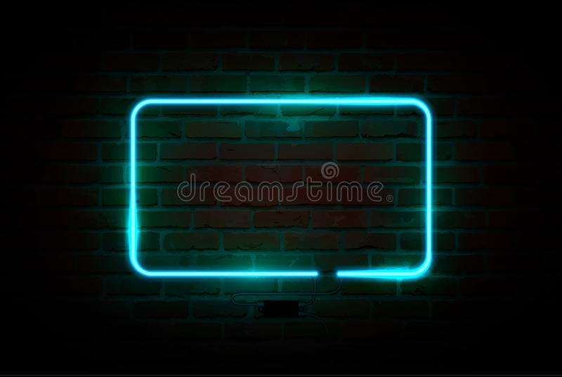 Neon sign, bright signboard, glowing banner. Vector illustration. Neon sign, bright signboard glowing banner vector vector illustration