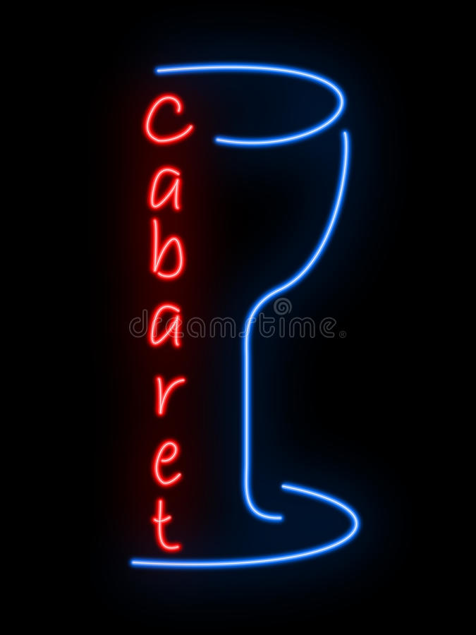 Neon sign - cabaret. Neon sign of a cabaret royalty free stock image