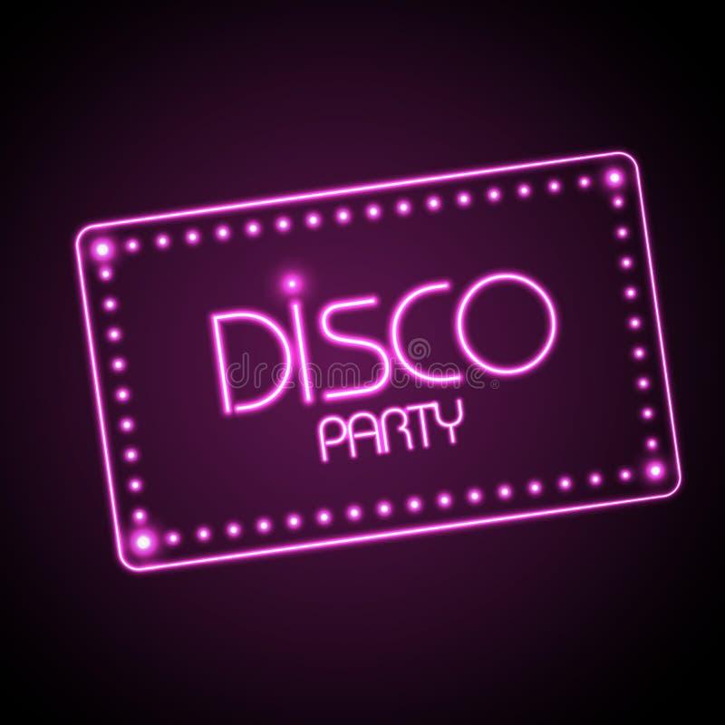 Neon Sign. Disco Party Royalty Free Stock Photos