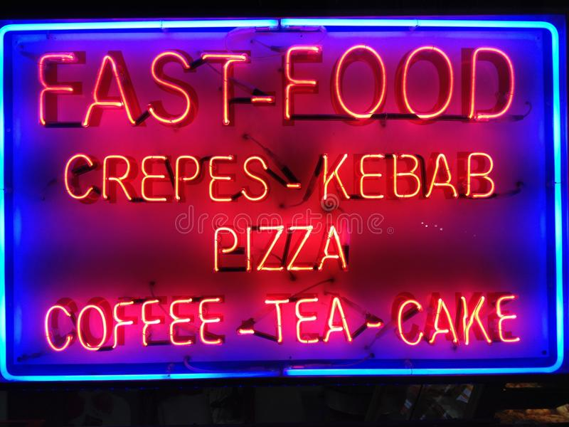 Neon sign stock photography