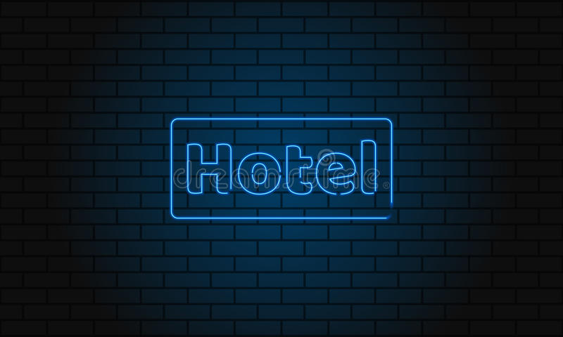 Neon sign hotel on brick wall background vintage electric signboard download neon sign hotel on brick wall background vintage electric signboard with bright neon lights aloadofball Images