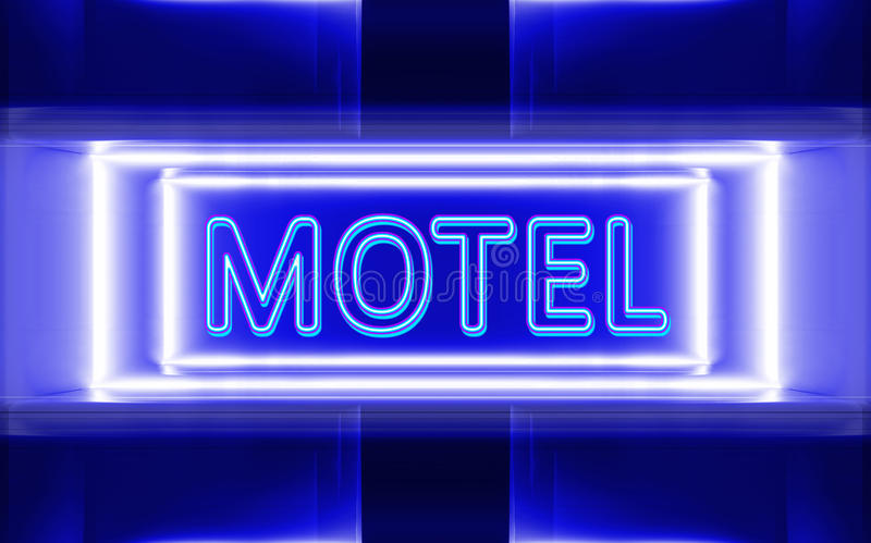 Neon sign of motel royalty free illustration