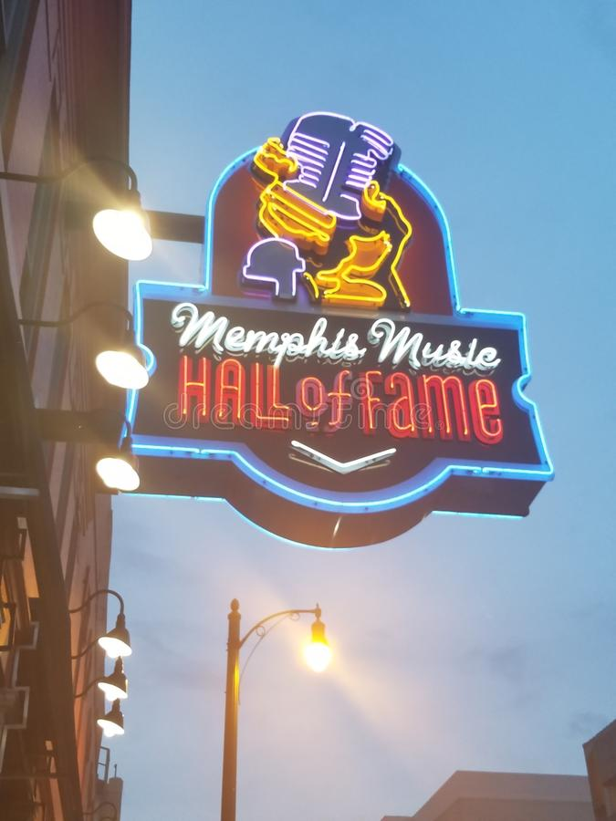 Neon in Memphis royalty free stock images