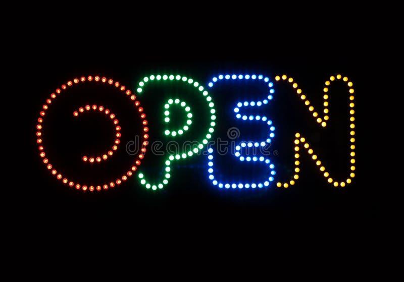 Download Neon Sign Open stock photo. Image of neon, sign, dark - 1578464