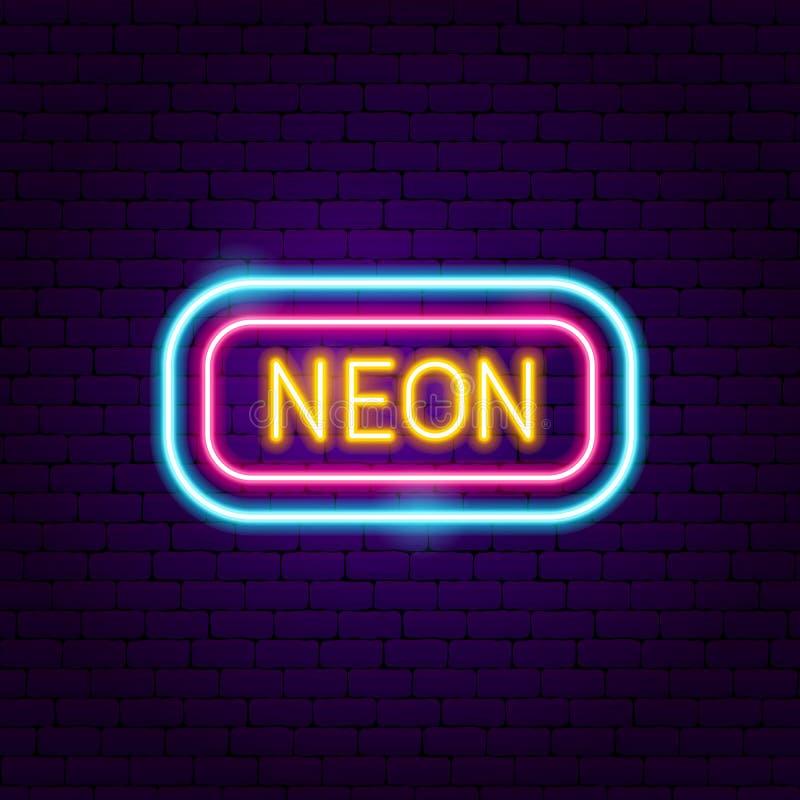 Neon Signboard Label. Vector Illustration of Trendy Promotion stock illustration