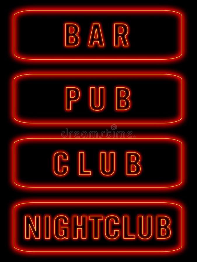 Neon signs vector illustration