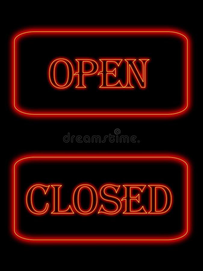 Neon signs stock illustration