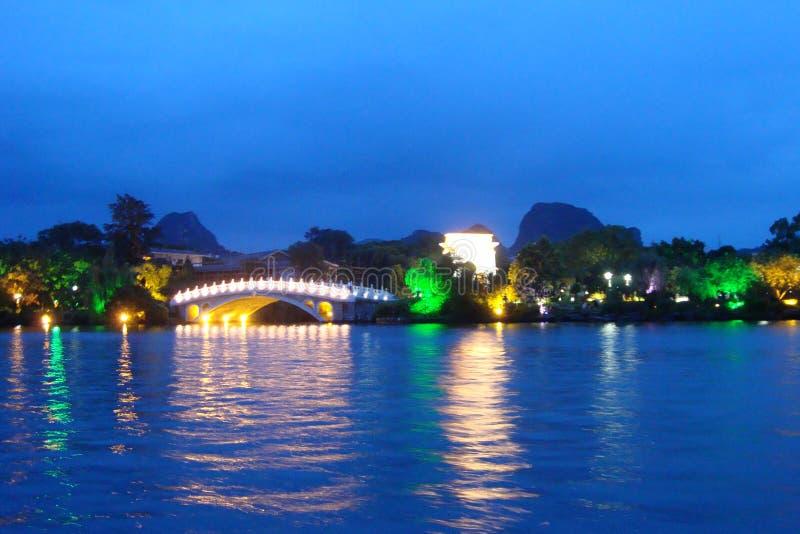 Neon sjö arkivfoto