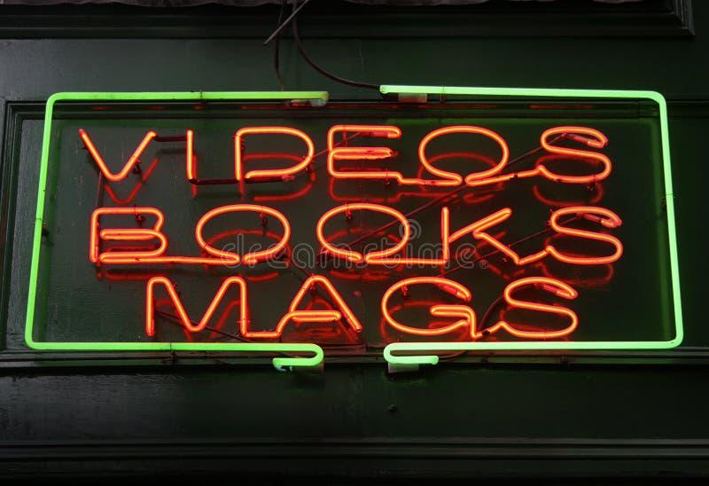 neon sklepu znak zdjęcie stock