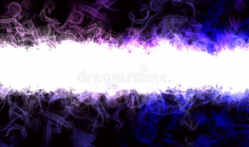 Neon smoke borders. royalty free illustration