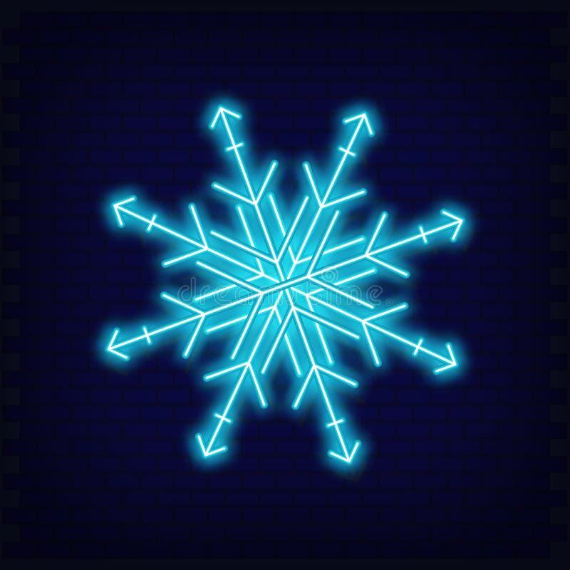 Neon Snowflake royalty illustrazione gratis