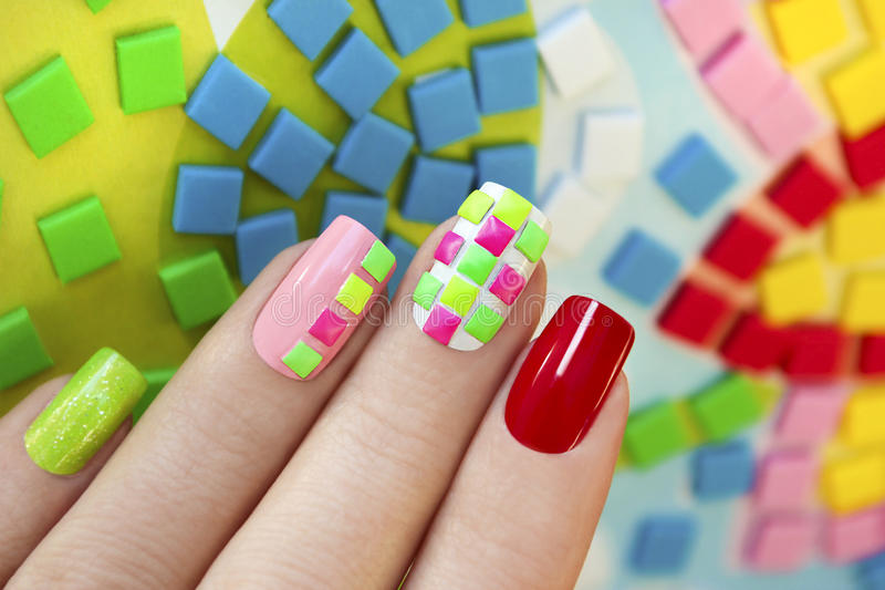 Neon squares. royalty free stock images