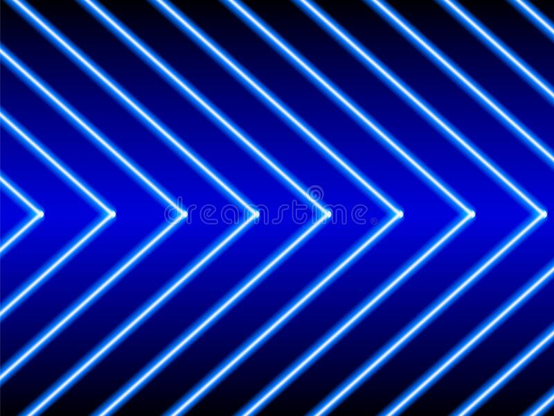Neon striped lighting. Abstract background. Vector stock illustration stock image
