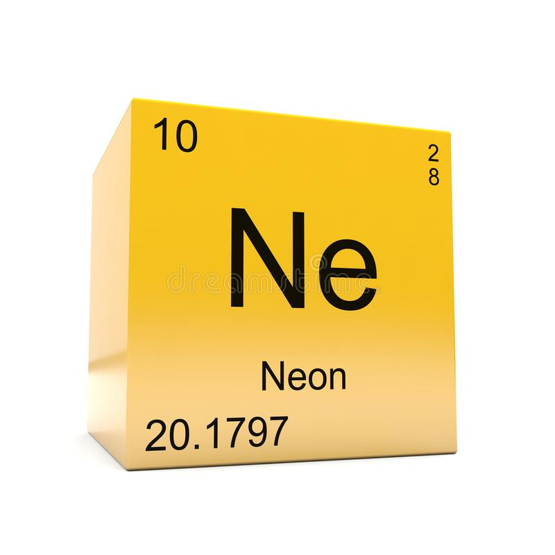 Neon Symbol Yellow Cube Stock Illustration Illustration Of Glossy