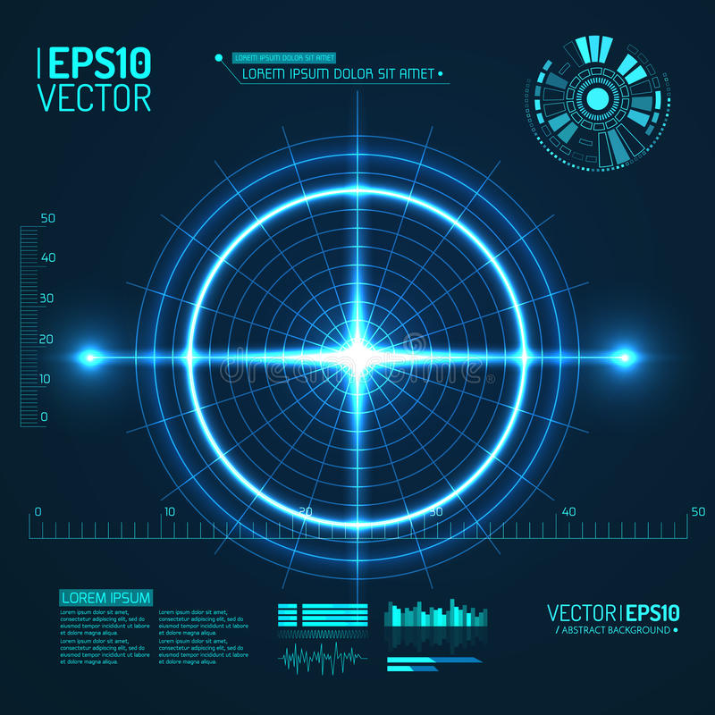 Neon Target . Game Interface Element. Vector. Illustration vector illustration