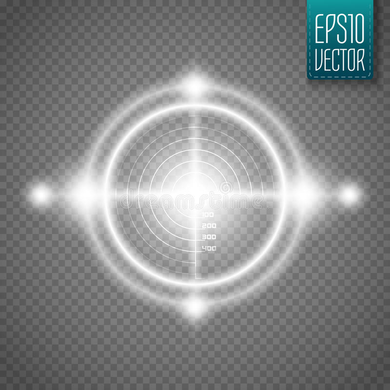 Neon Target isolated. Game Interface Element. Vector. Illustration vector illustration