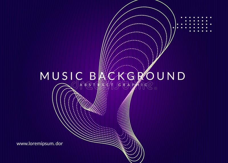 Neon techno event flyer Música de dança eletrônica Som eletrônico ilustração stock
