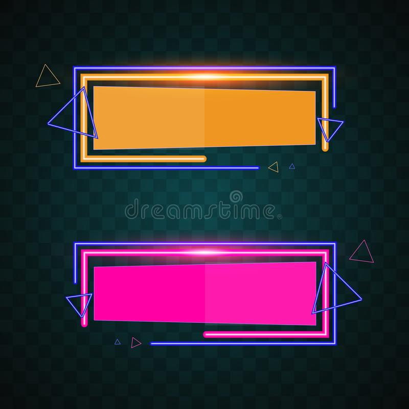 Neon technology banner vector. stock photography